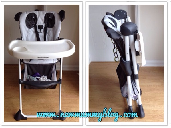 newmummyblog review  mothercare panda highchair