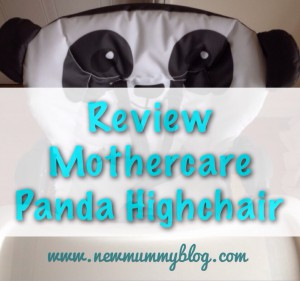 Mothercare panda highchair review