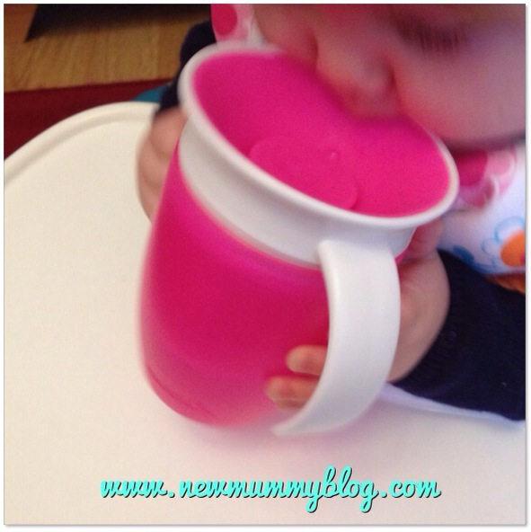 munchkin 360 cup review baby drinking