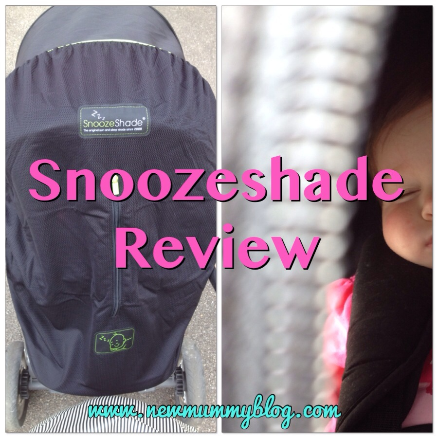 Snoozeshade review - how to get baby to nap during the day and a safe was to shade a baby from the sun, without using a blanket