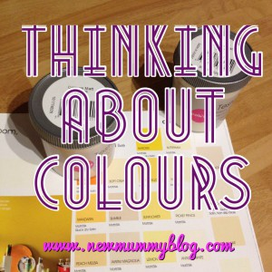New mummy blog thinking about paint colours for home diy