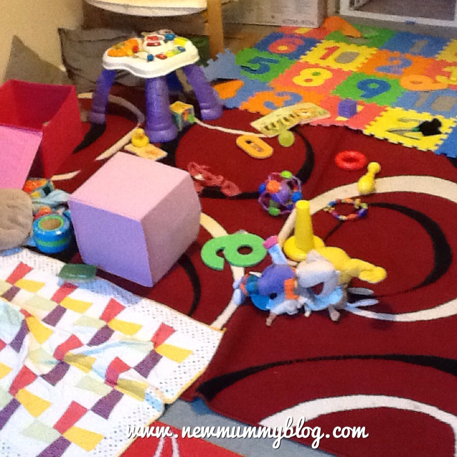 new mummy blog, playroom mess from a 10 month old