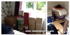 Moving house, boxes, baby, chaos