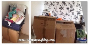 Moving house with a baby, baby's suitcase