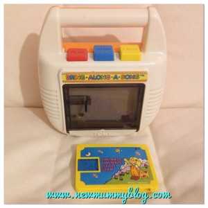 New mummy blog throwback Thursday 80s toy cassette player Tomy