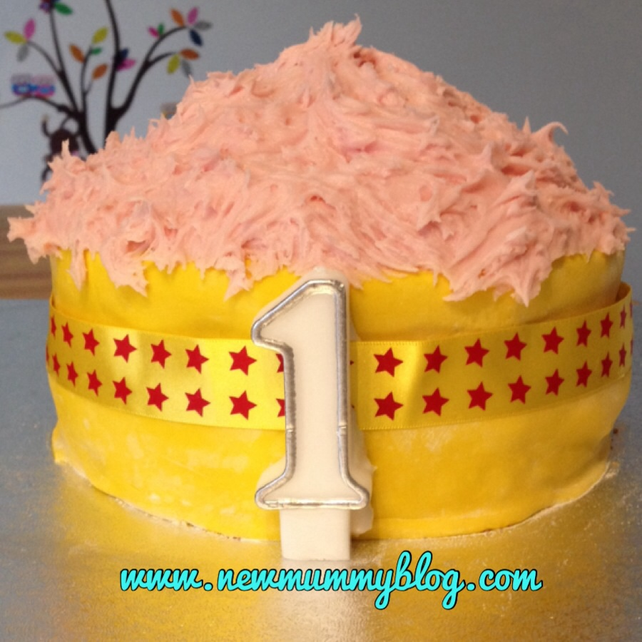 First Birthday Cake Smash Cake Tutorial... An Easy How To
