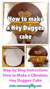 Make a Hey Duggee cake - step by step instructions first birthday cake CBeebies toddler