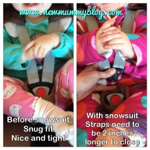 New Mummy Blog - Car seats and snow suits are not safe