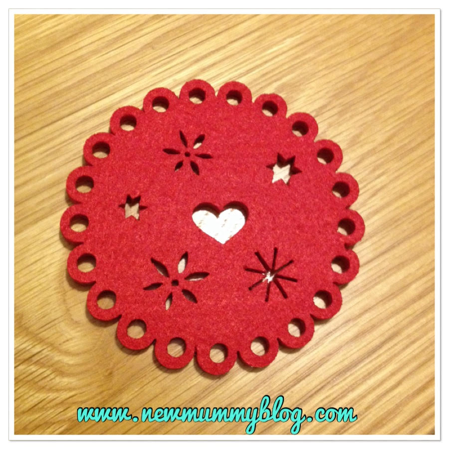 new mummy blog 5 under 5  - Waitrose felt coasters