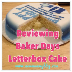Reviewing Baker Days Letterbox Cake