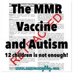 MMR vaccine and autism Wakefield study