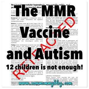 The MMR vaccine and autism new mummy blog