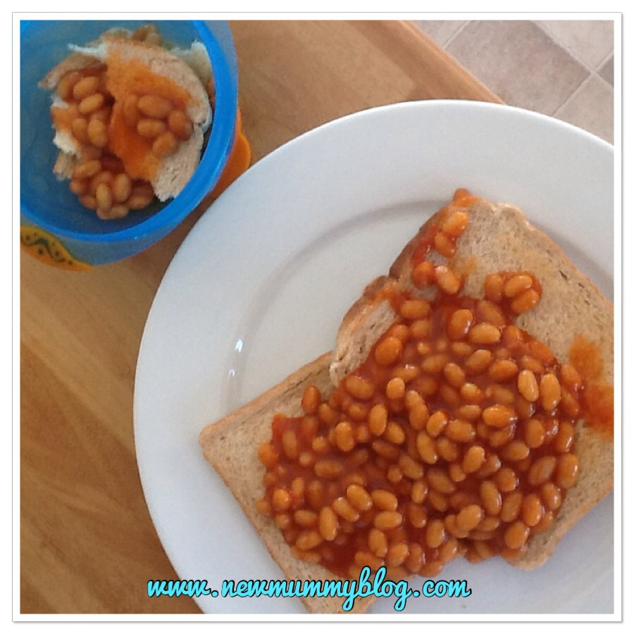 Things I didn't expect when baby turned one beans on toast