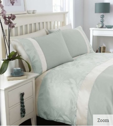 Duck Egg Jacquard Duvet Cover Set