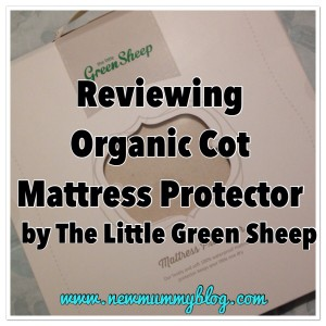 The Little Green Sheep Cot Protector