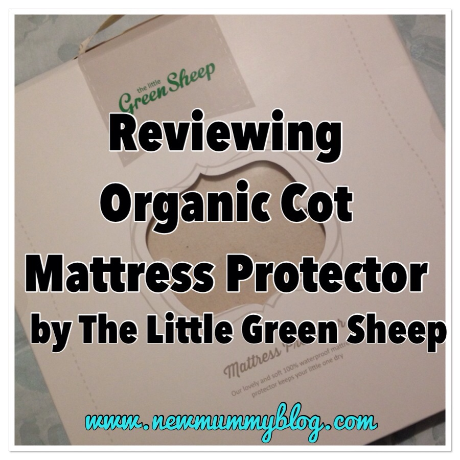 Little Green Sheep Company Cot Mattress Protector Review - the packaging