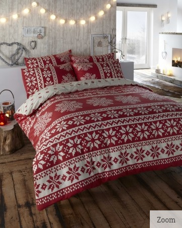 Innsbruck Red - Flannelette Duvet Cover Set