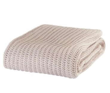 Knitted Throw - Natural