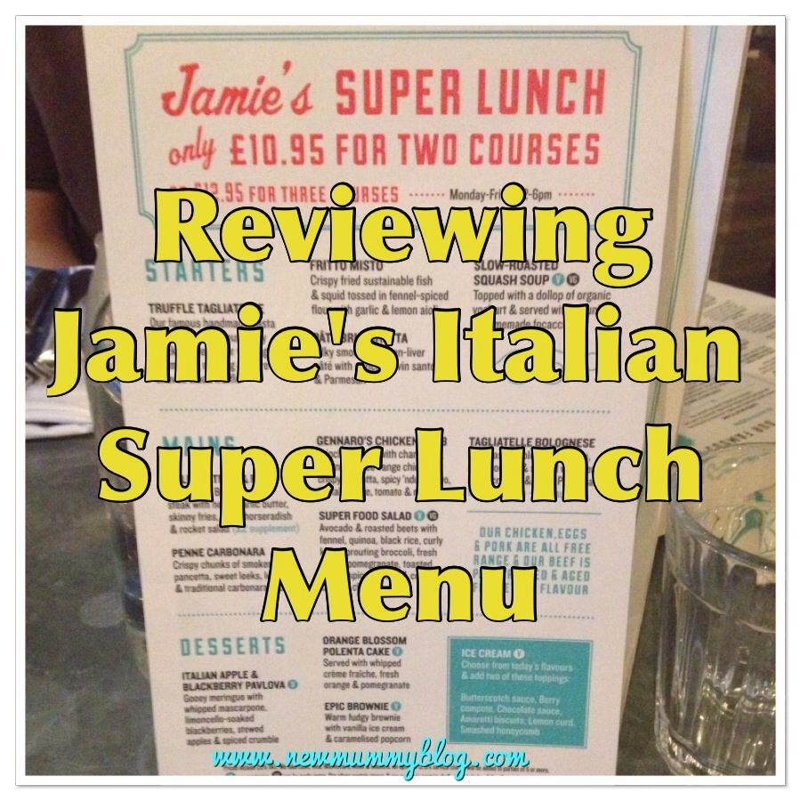 New mummy blog reviews Jamie's Italian super lunch