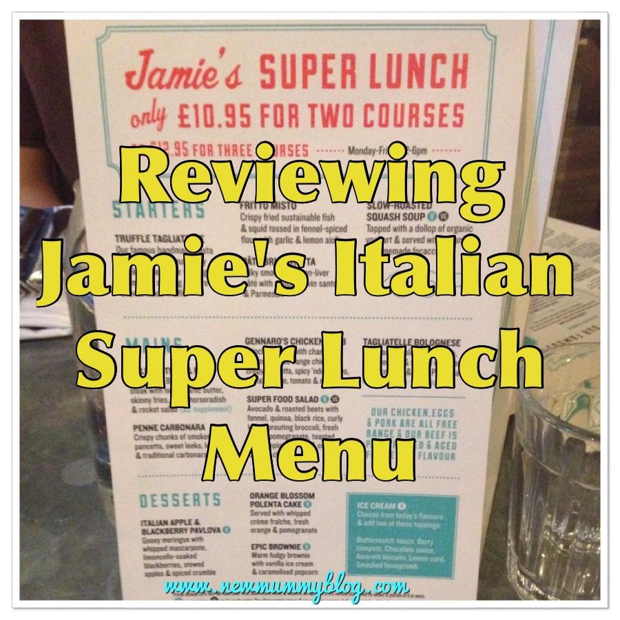 New mummy blog reviews Jamie's Italian super lunch