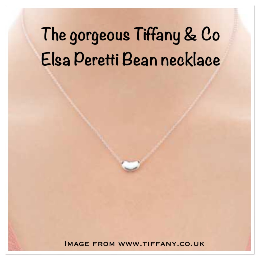 Tiffany Bean Necklace - present for wife or girlfriend