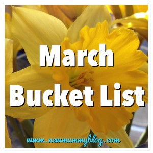 Daffodils march bucket list