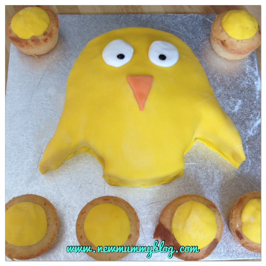 Easter cake ideas - simple easy Easter chick cake for kids