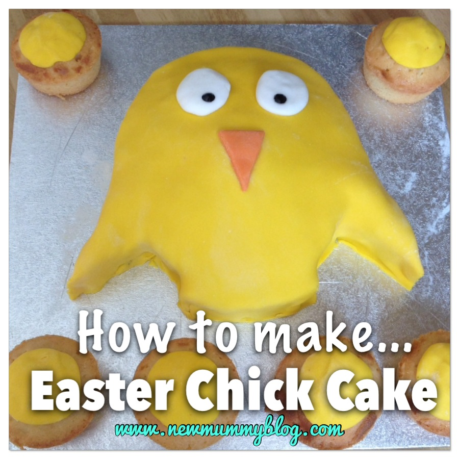 How to make an easter chick cake - super easy Easter cake for kids