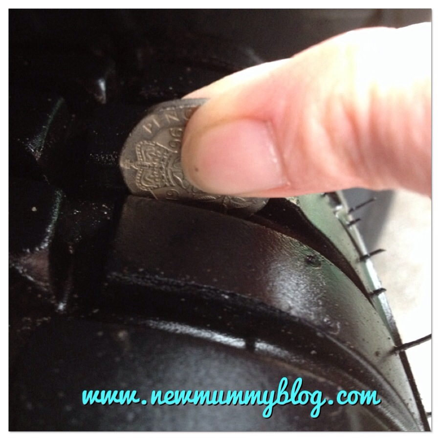 new mummy blog new car tyres and the 20p tyre tread trick