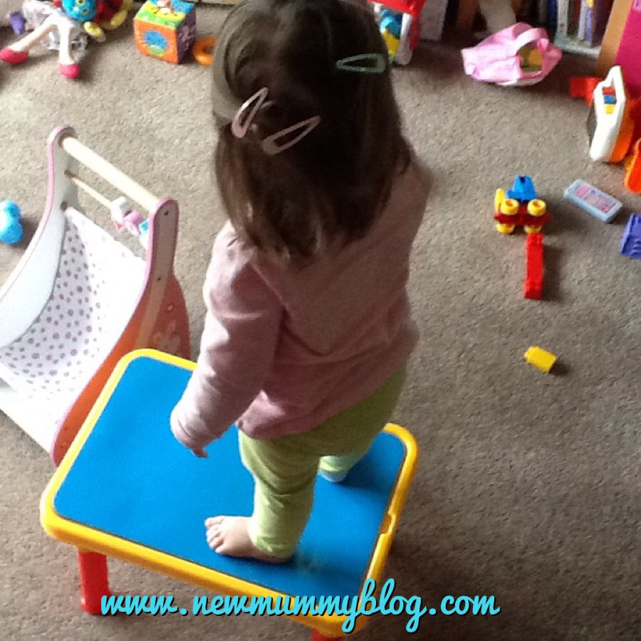 Newmummyblog wickedwednesdays standing on the sand table