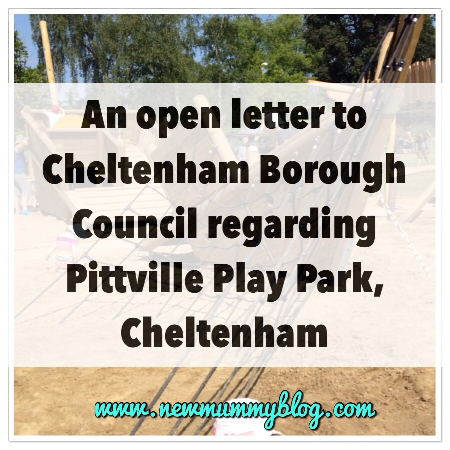 New Mummy Blog Open Letter to Cheltenham Borough Council - Pittville Park Cheltenham - New Play Park Facilities - Litter, toddlers