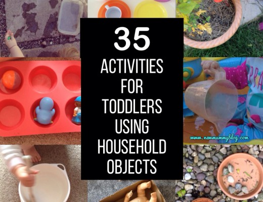 Activities for toddlers using household objects - New Mummy Blog