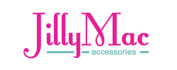 Jilly Mac Accessories retro fontleray brown colour logo