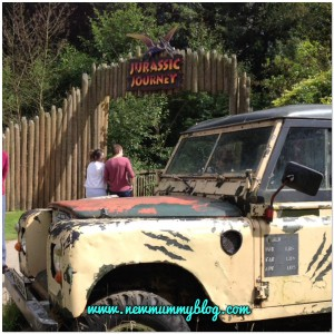 Dinosaurs trail at Birdland - a day out in gloucestershire