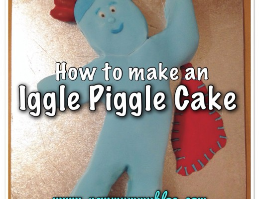 How to make an Iggle Piggle Cake - step by step instructions easy baking cake birthday toddler children kids birthday cakes mummy made