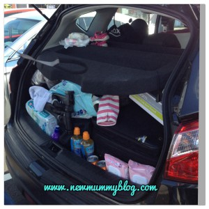 Caravan holiday with a toddler packed car