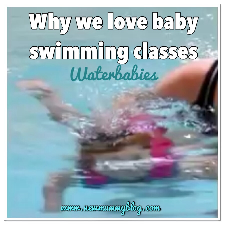 Baby swimming underwater on holiday following Waterbabies class