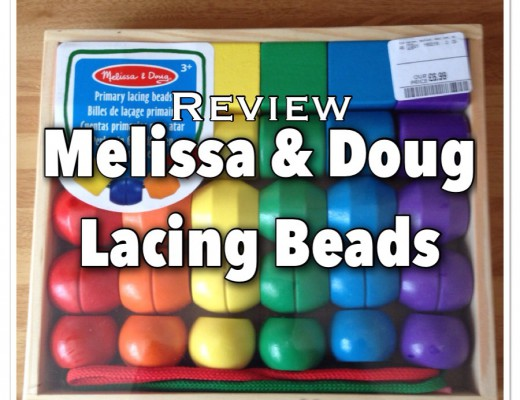 Melissa and Doug primary threading beads toy for toddlers age 3+