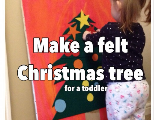 how to make a felt christmas tree for toddler to play with DIY fuzzy felt