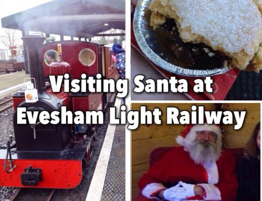 Evesham Light Railway Santa and mince pies