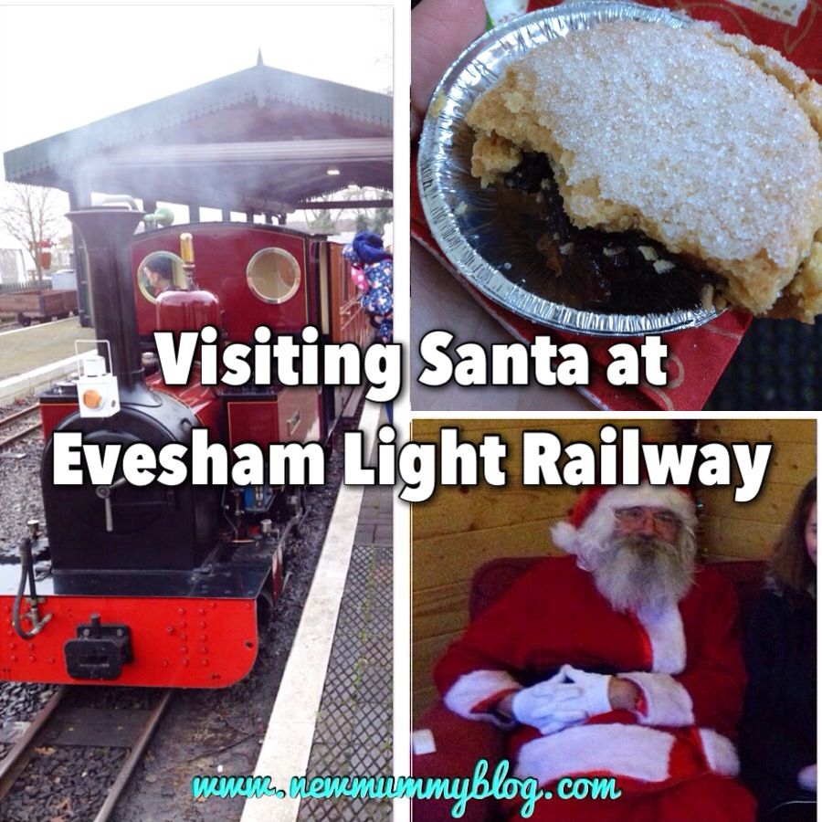 Evesham Light Railway Santa and mince pies