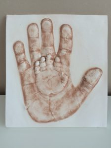 New Mummy Blog featuring Baby Prints Cheltenham - baby hand print