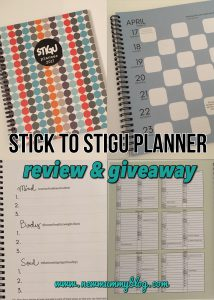 Stick to Stigu planner giveaway on newmummyblog