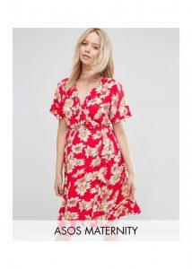 LoveTheSales ASOS Maternity Tea Dress Summer Holidays red daisy dress