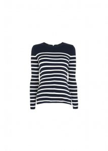 LoveTheSales Top Shop Maternity Blue Striped jumper navy white