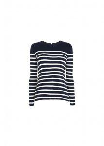 LoveTheSales Top Shop Maternity Blue Striped jumper navy white