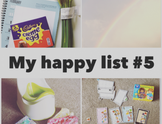 Happy List 5 - creme eggs, daffodils, potty training, Orchard Toys shopping