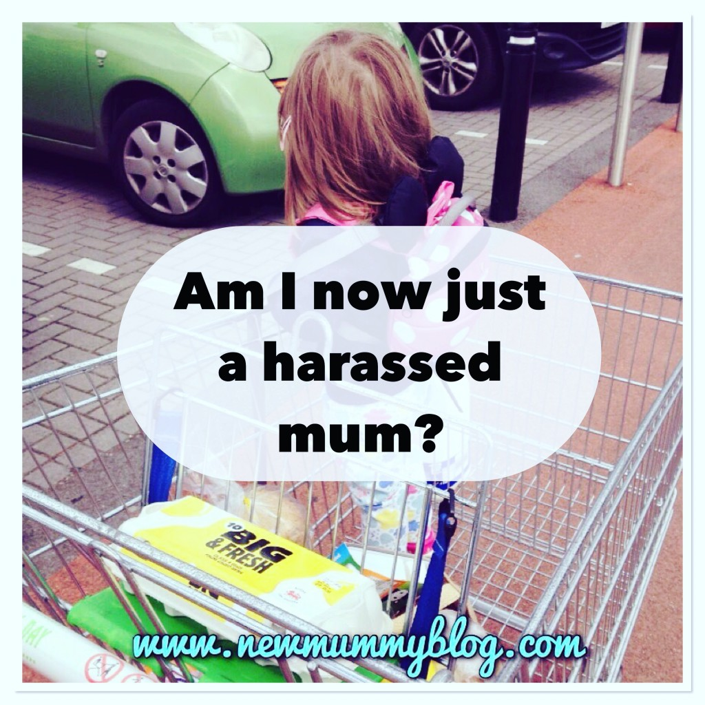 Harassed mum - we all change becoming a mum, am I now just a harassed mum in the supermarket?