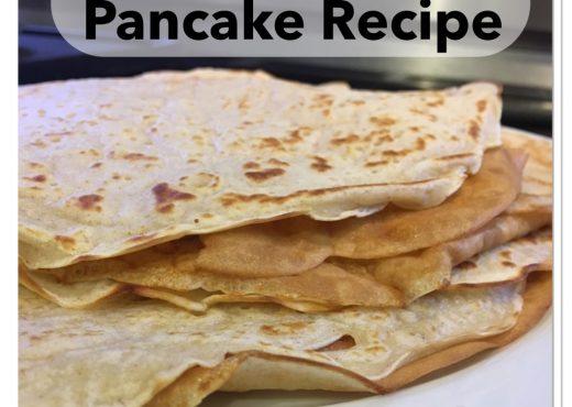 Egg free pancake recipe - easy delicious store cupboard ingredients