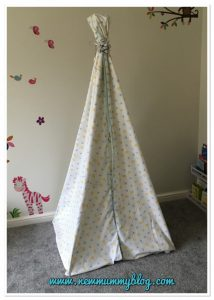 How to make a teepee for kids easy and can be no sew